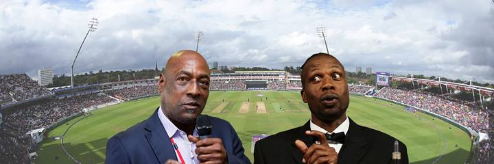 Curtly Ambrose and Viv Richards