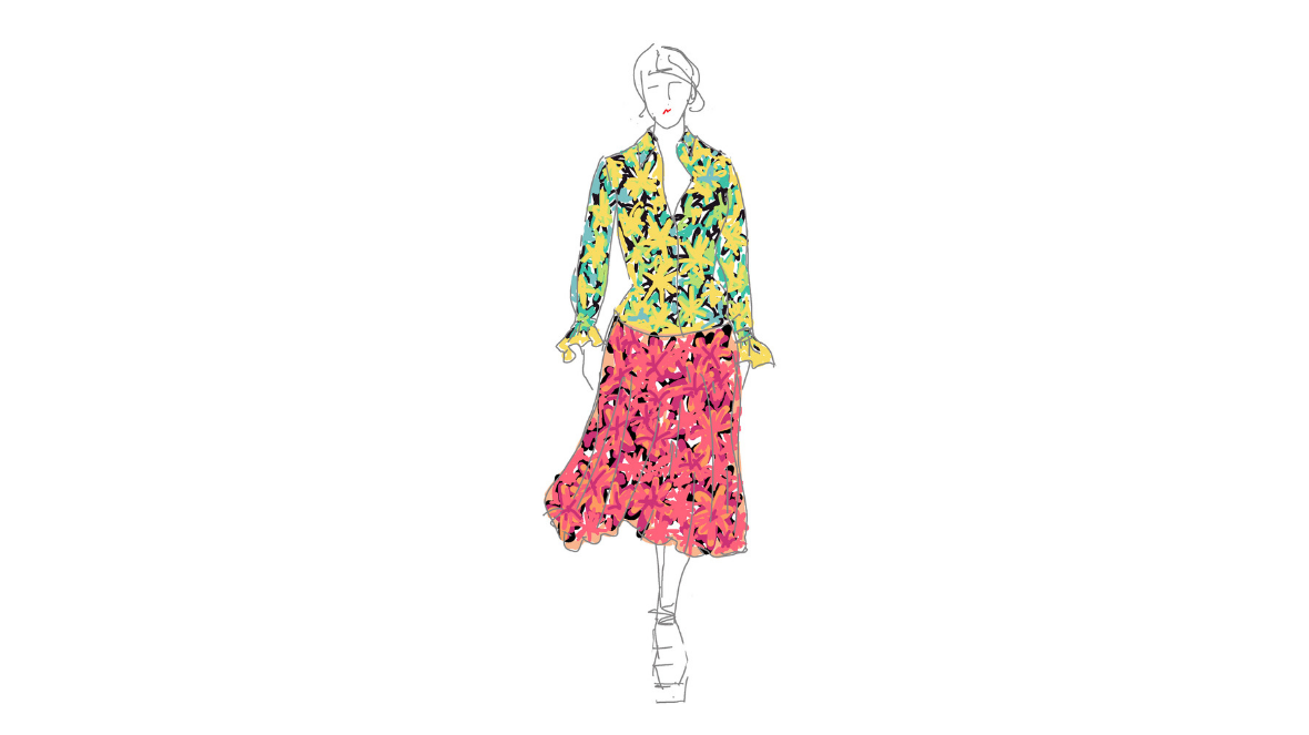 JoannaZaraMillinery_michael kors clashing floral sketch
