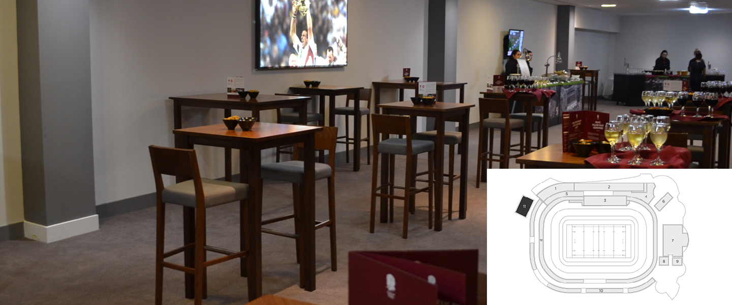 The Rugby House North, a premium rugby hospitality location within Twickenham Stadium